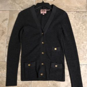 Juicy Couture lightweight charcoal gray cardigan